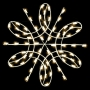 4.5' Silhouette Deluxe Spiral Snowflake - Ground Mount