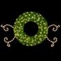 8' 3-D Double-Faced Wreath w/Silhouette Scrolls Self-Standing