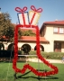 12' Giant Cowboy Boot w/Packages Ground Mount