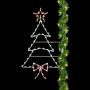 Silhouette Christmas Tree w/Bow Pole Mount